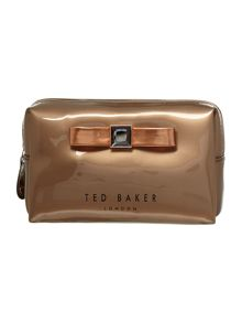 Rose gold bow small cosmetics bag