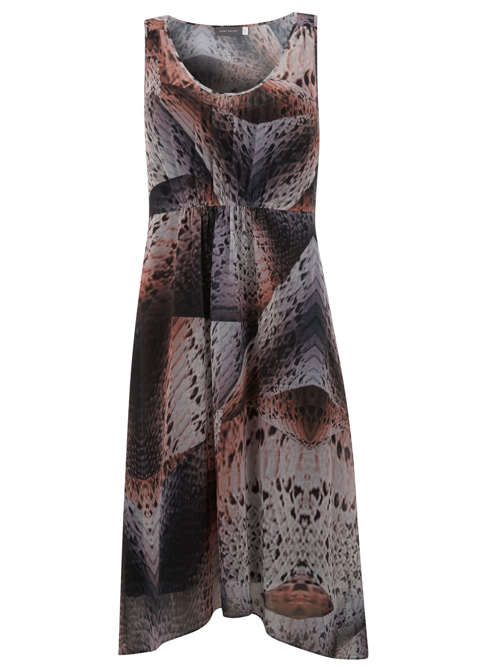 Erica Print Asymmetric Dress