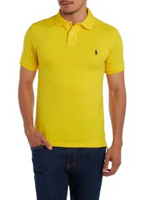 Slim fit short sleeve mesh polo shirt