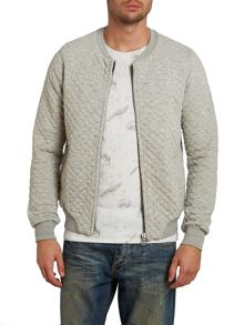 Home alone quilted sweat bomber jacket