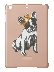 Rose gold cotton dog ipad mini case