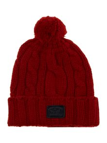 Cable bobble hat