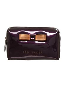 Purple exclusive bow small cosmetics bag