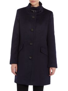 3/4 length balmacaan wool coat