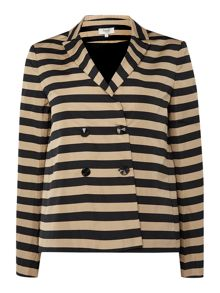 Hoss Intropia Long Sleeve Stripe Blazer