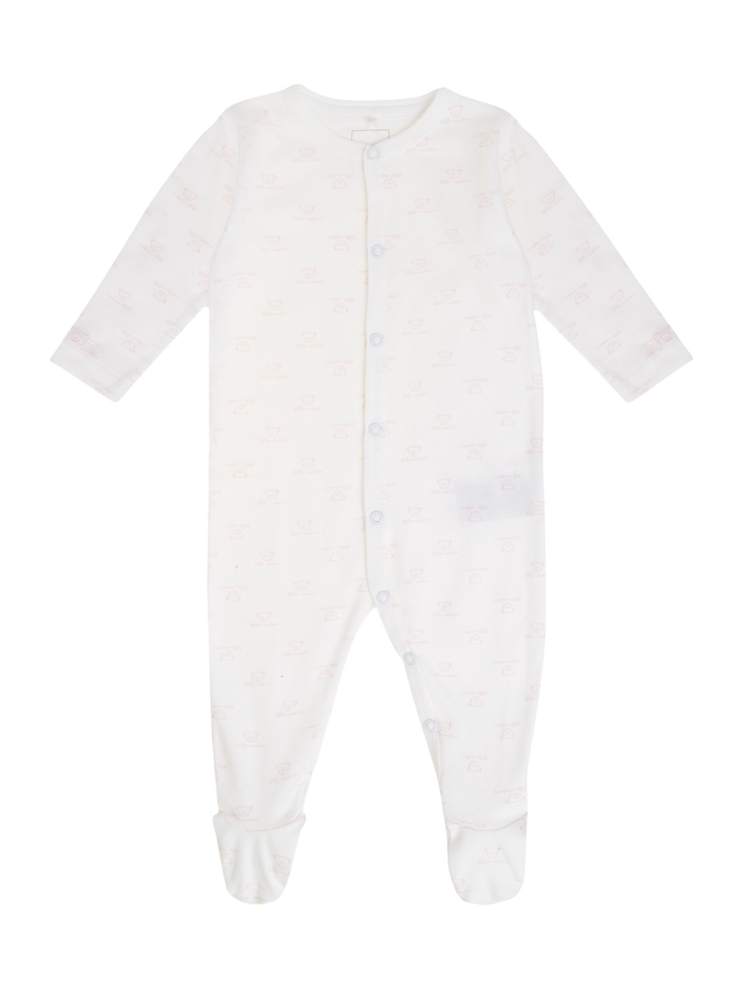 Babys all-over-print teddy sleepsuit
