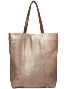 Milly leather shopper bag