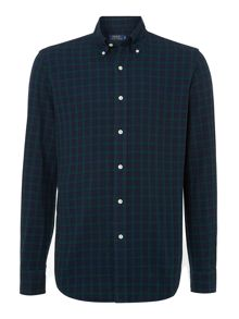 Long sleeve custom fit blackwatch oxford shirt