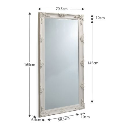 Linea Abbey Leaner Mirror Cream 163 x 78cm