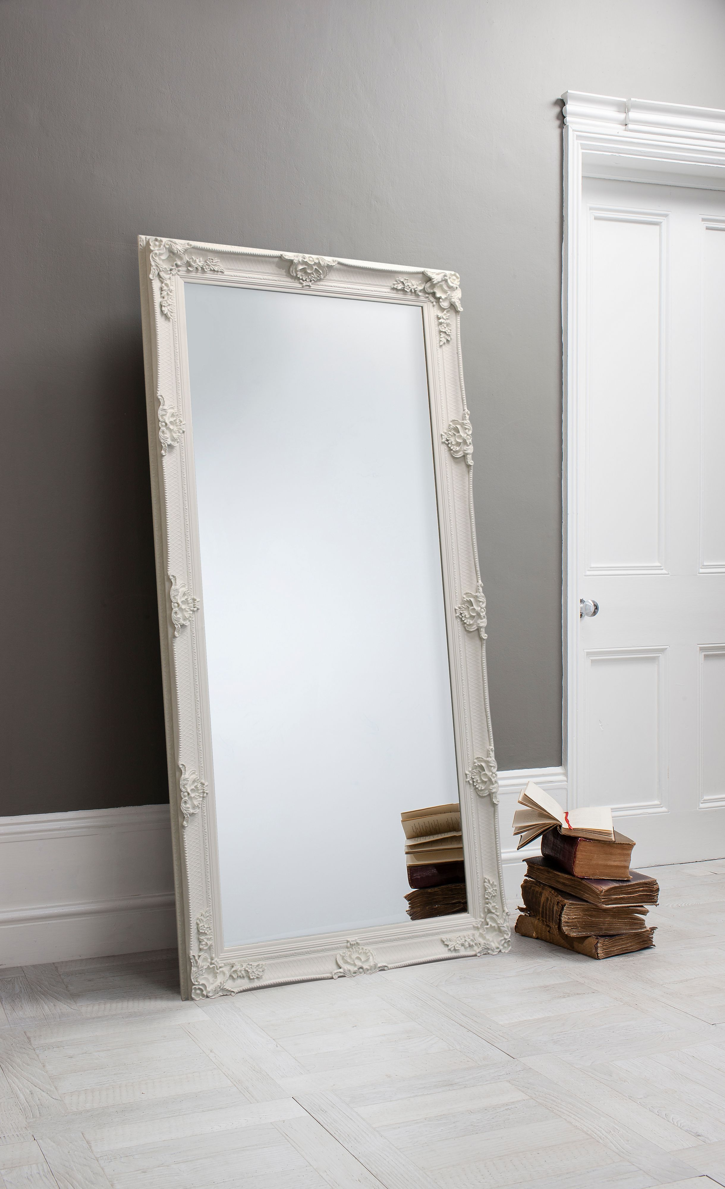 Abbey Leaner Mirror Cream 163 x 78cm