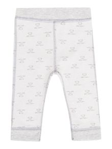 Babys reversible jersey jogger with teddy print