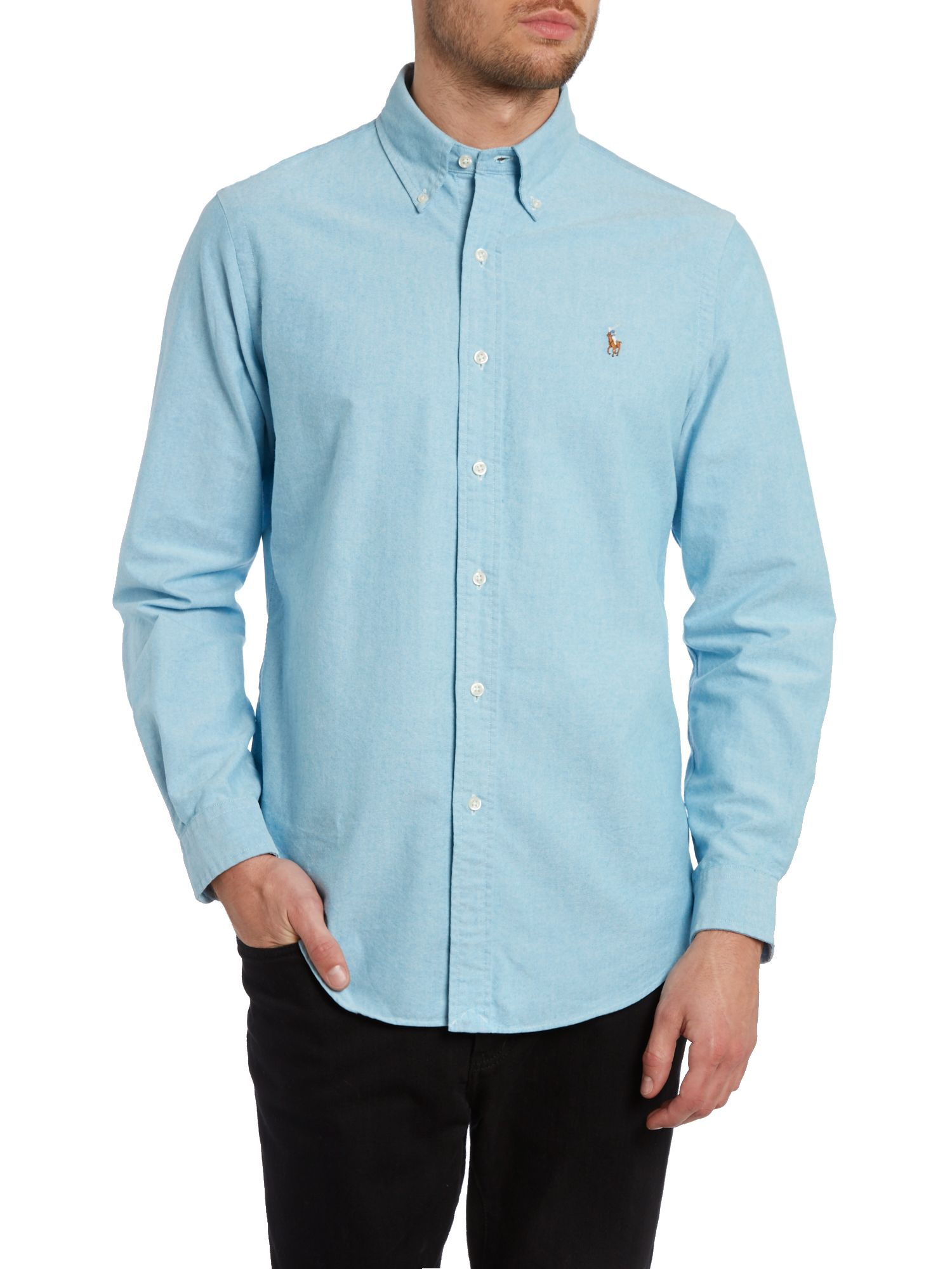 Long sleeve custom fit oxford shirt
