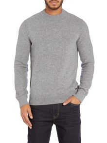 Crew neck long sleeve lambswool jumper