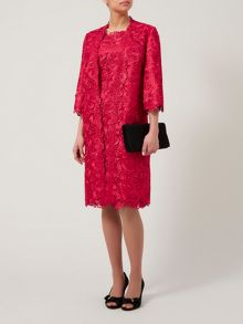 Luxury lace long line jacket
