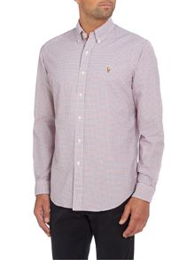 Long sleeve custom mini multi gingham shirt