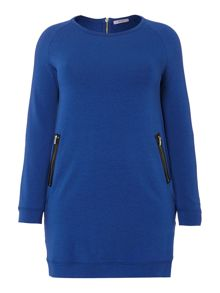 Persona Oriente zip detail tunic top
