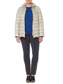 Perigio padded jacket with faux fur hood