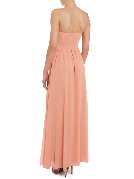 True Decadence Ruched bandeau maxi dress