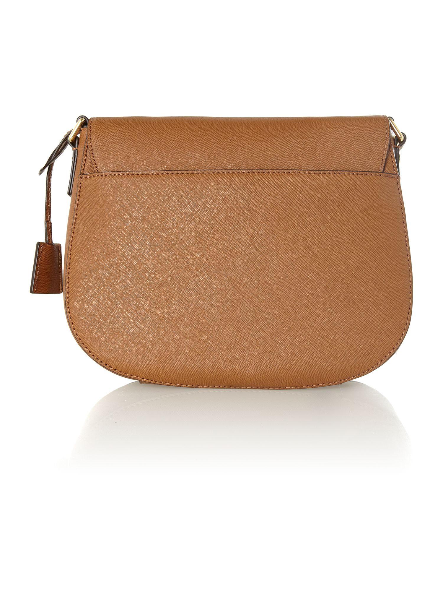 Hamilton tan flapover cross body