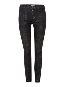 Current Elliott The Stiletto skinny jeans in Highland Leopard