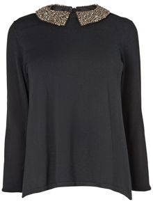 Sadie diamante collar jumper