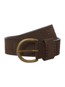 Suede leather jeans belt