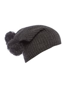 Salt & Pepper double Pom Pom Beanie