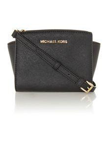 Selma black mini cross body bag