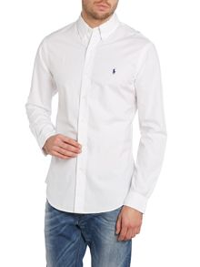 Long sleeve slim fit sports shirt