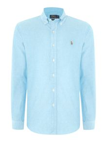 Long sleeve slim fit oxford shirt