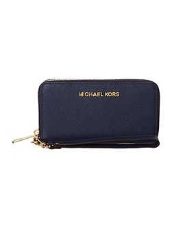 Michael Kors Navy large coin multi-functional phone case