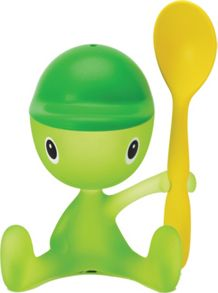 Alessi Cico Egg Cup & Spoon, Green Bud