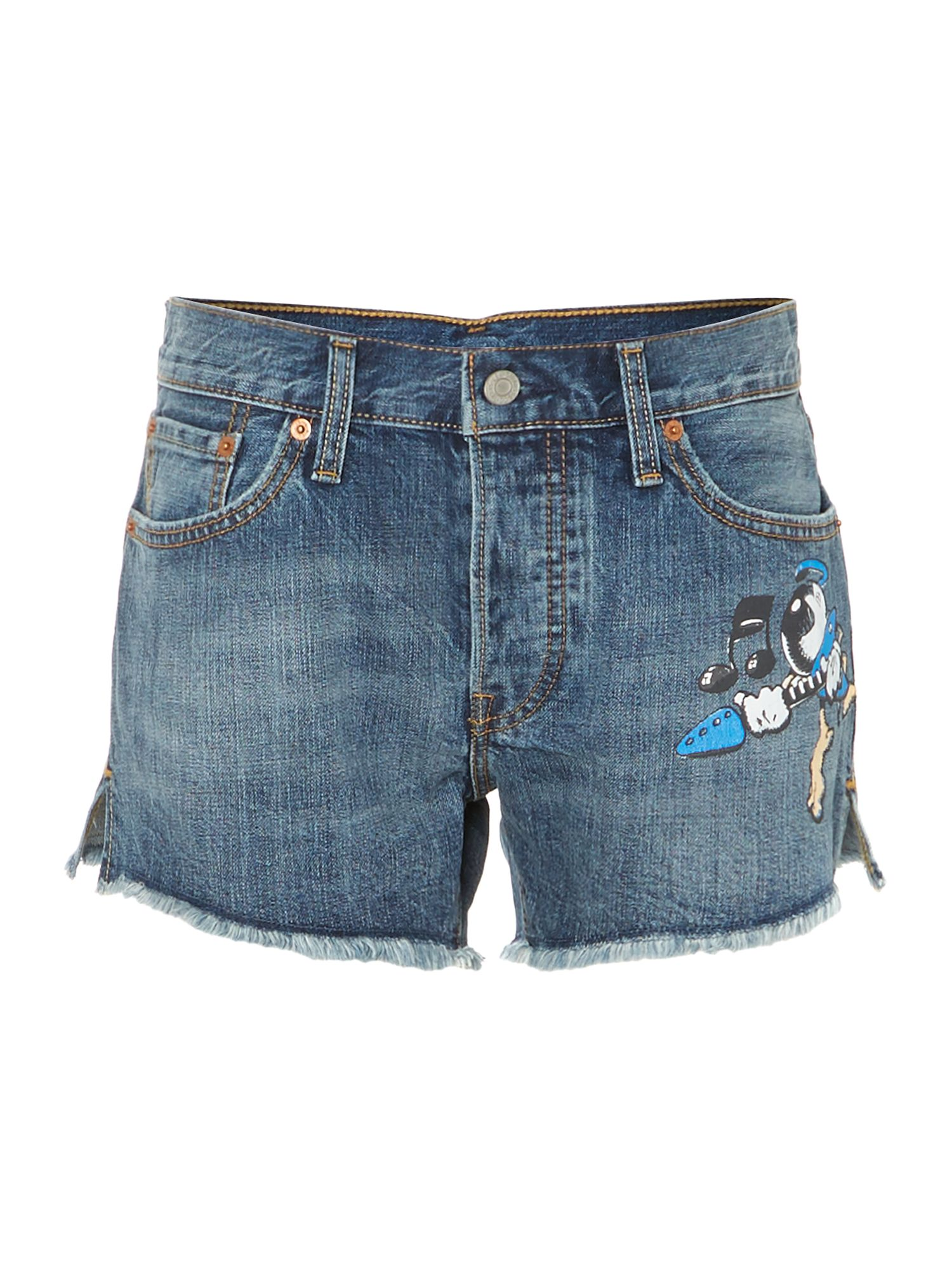 Rick griffin denim shorts in indigo current