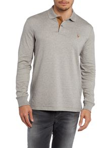 Long sleeve polo sweat shirt