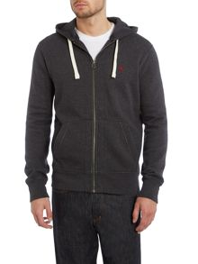 Zip thru hooded sweat shirt