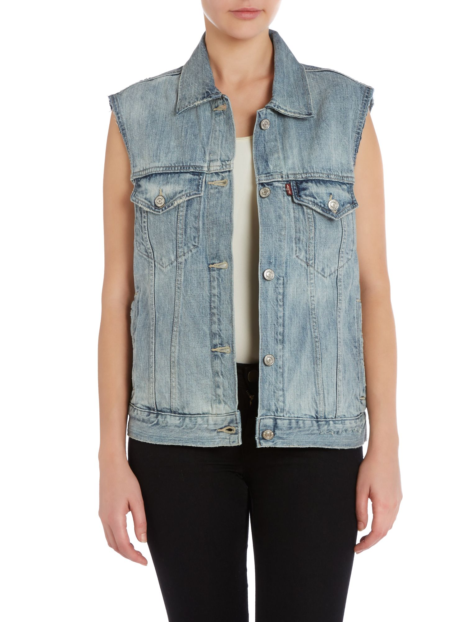 Sleeveless rick griffin vest in wave break
