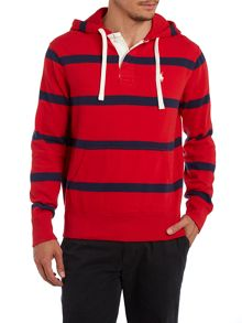 Striped hooded sweatshirt