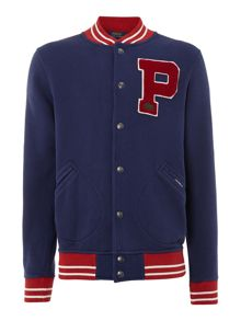 Baseball jacket with letter
