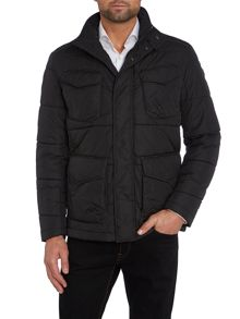 Quilted four pocket field jacket