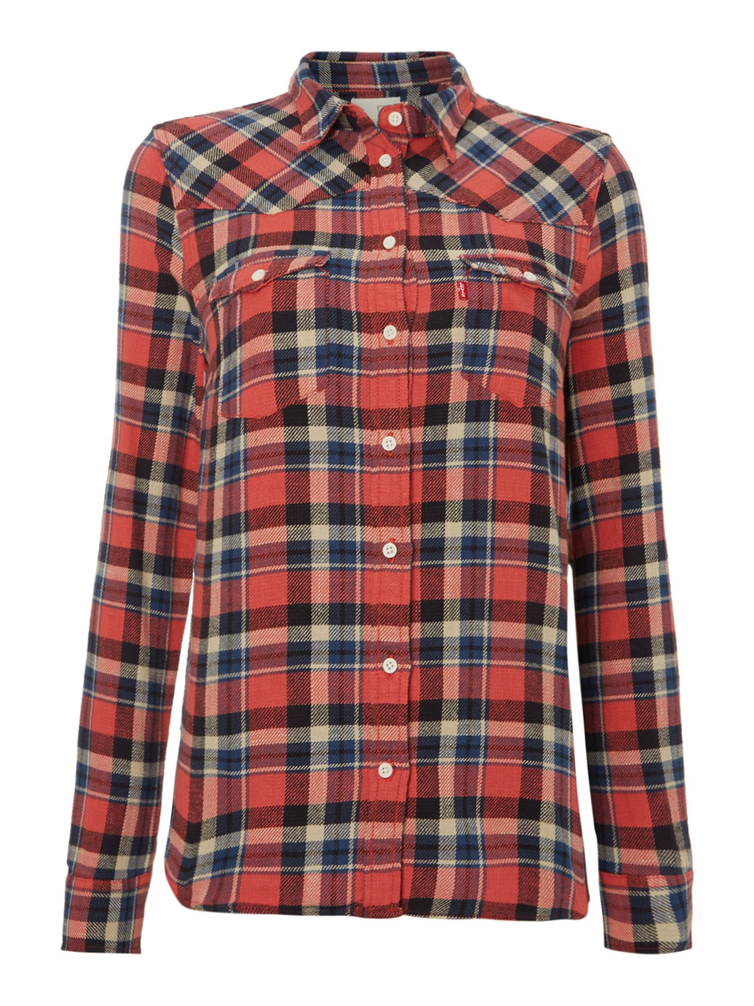 Check relaxed western shirt