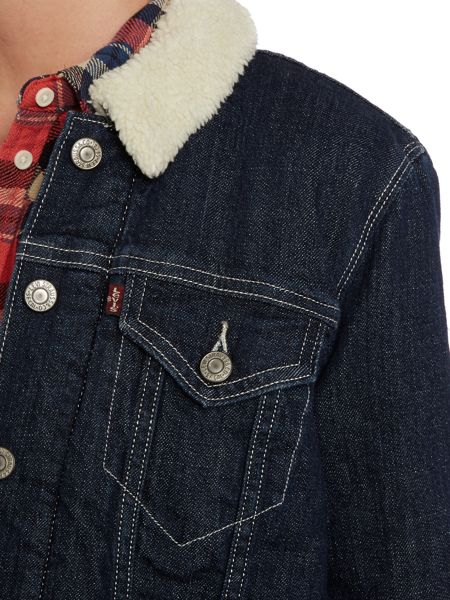 Levi's Elongated sherpa jacket in woodlands