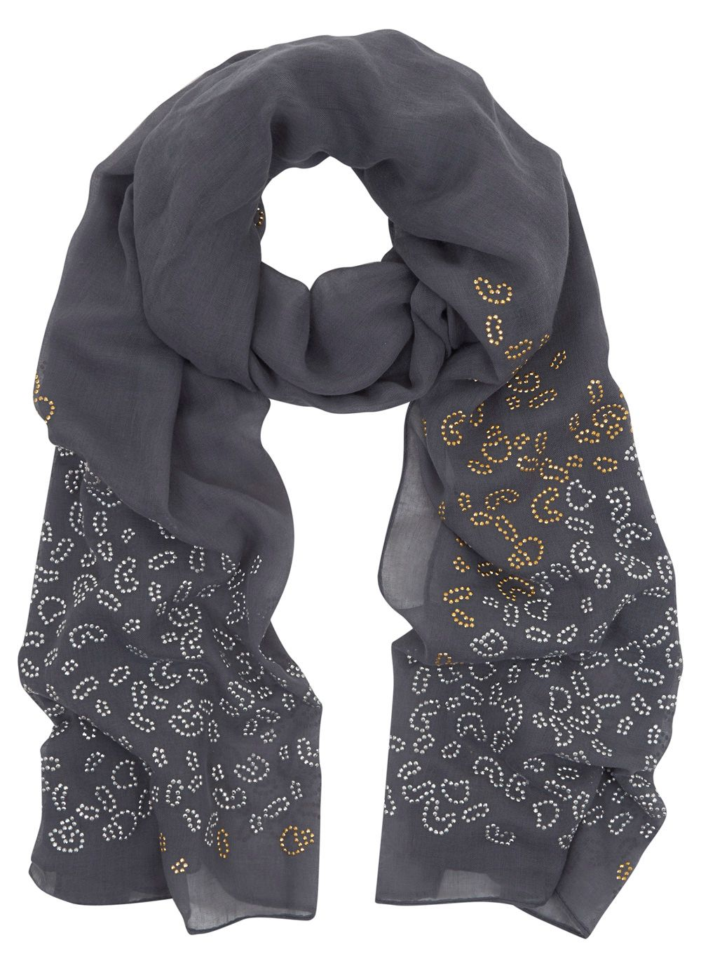 Steel Animal Stud Scarf