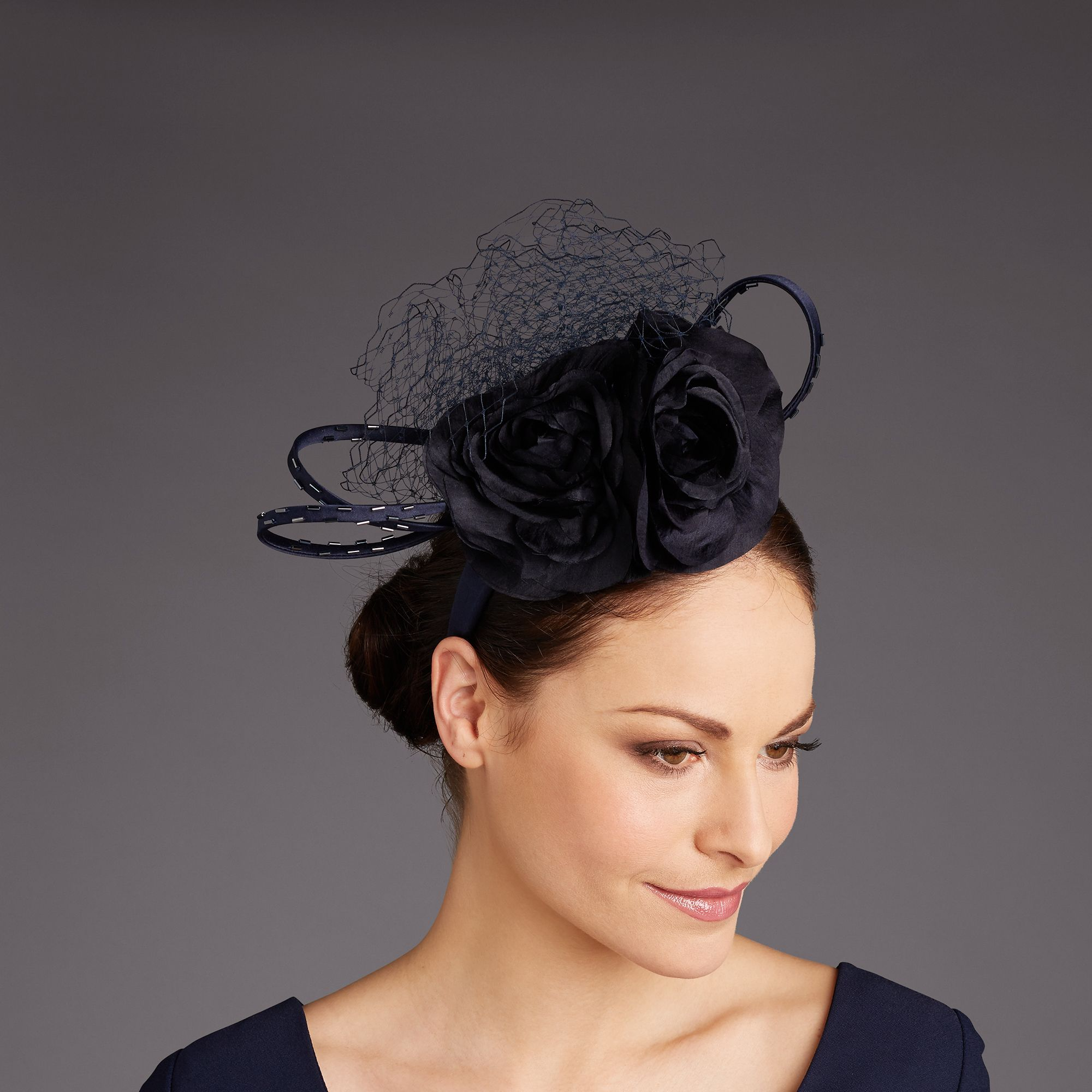 Rachel trevor-morgan navy beaded headpie