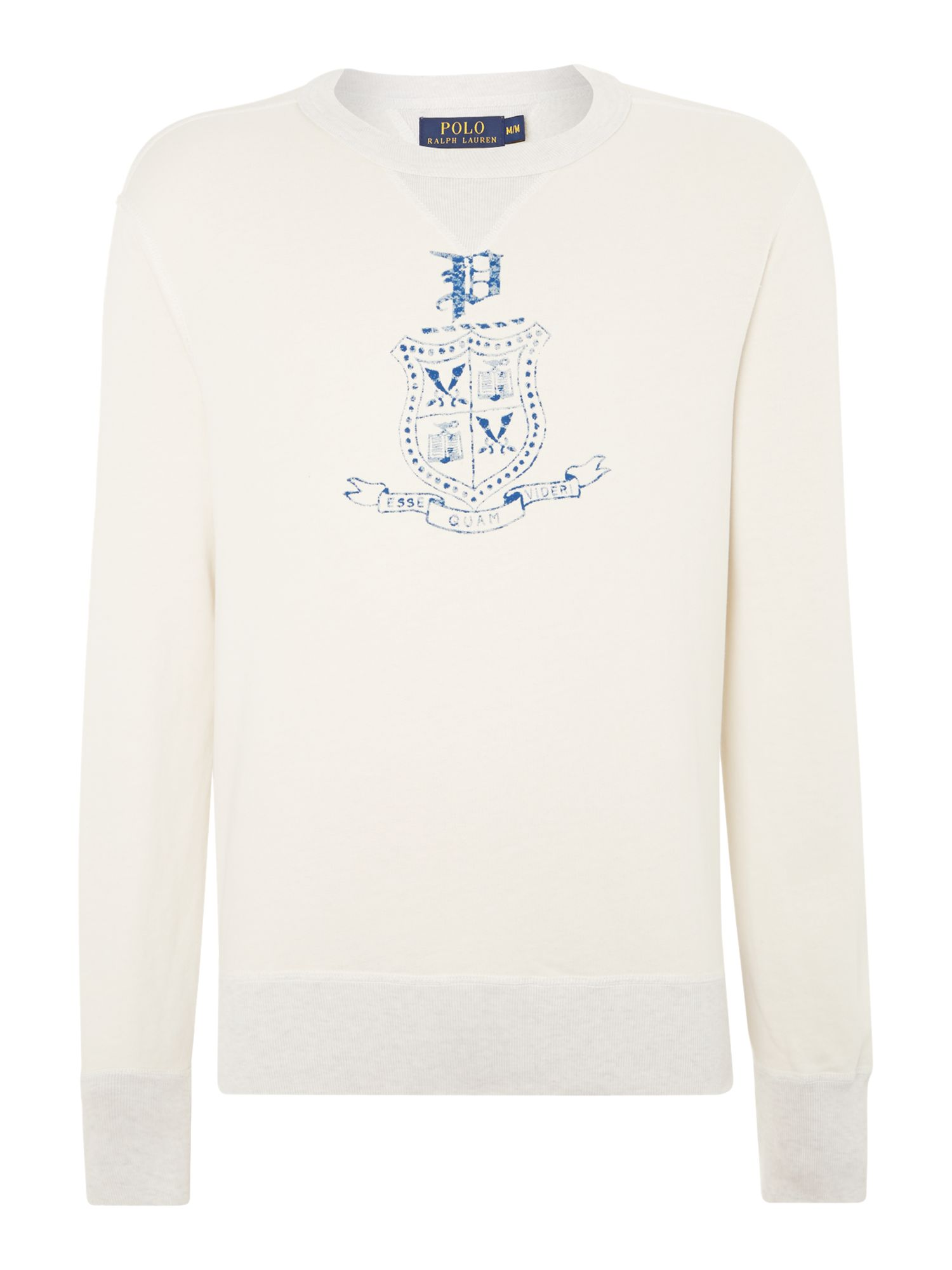Crew neck Polo logo sweatshirt