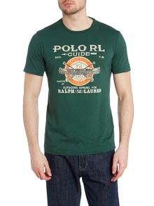 Polo player crew neck T-shirt