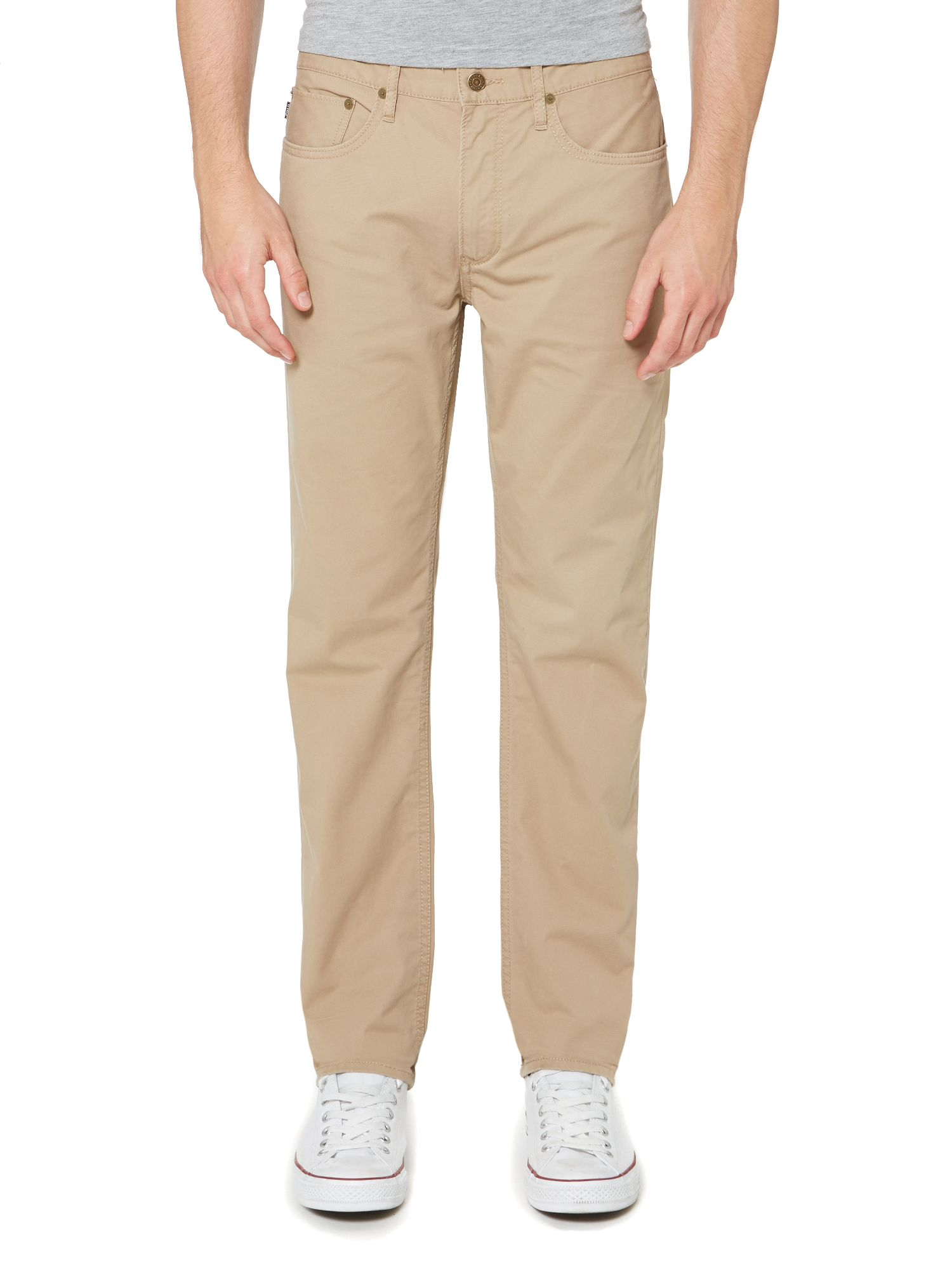 Slim fit straight leg varick trousers