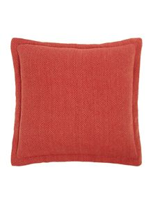 Herringbone red flange cushion