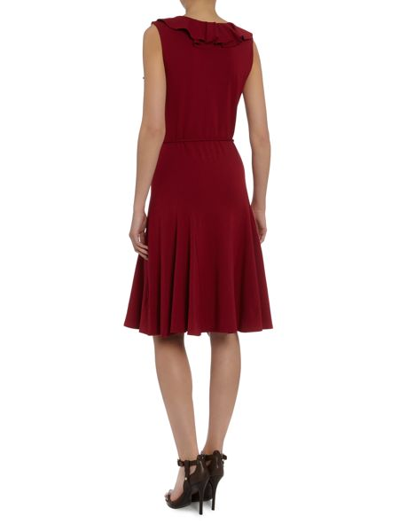 Lauren Ralph Lauren Sleeveless v neck ruffle front dress