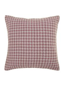 Dogtooth purple cushion