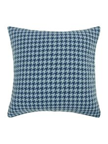 Dogtooth cushion, blue